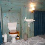 Toilettes séparées partagées entre les 2 chambres d'hôtes